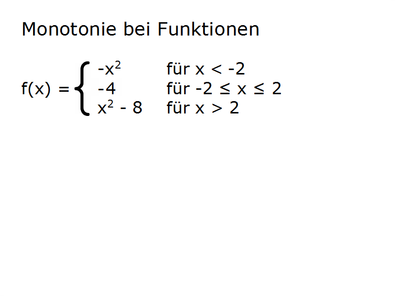 funktion abschnittsweise