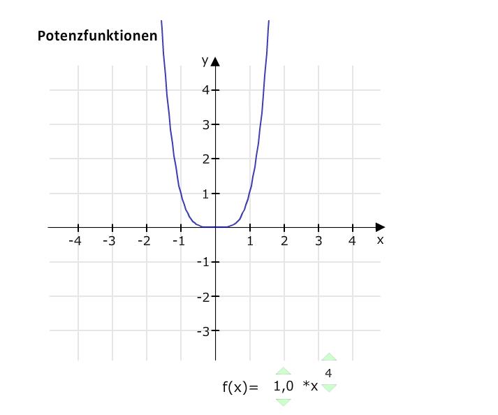 Potenzfunktion x hoch 4