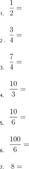 Mathe G08: Brüche / Bruchrechnung   Matheretter