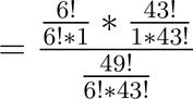 Berechnung Wahrscheinlichkeit Lotto