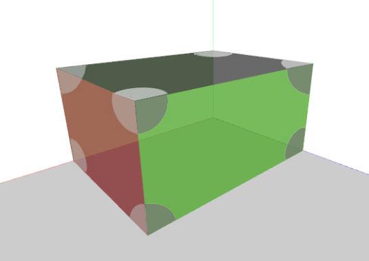 Rechte Winkel bei Quaderflächen