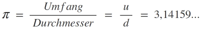 Formel für Pi