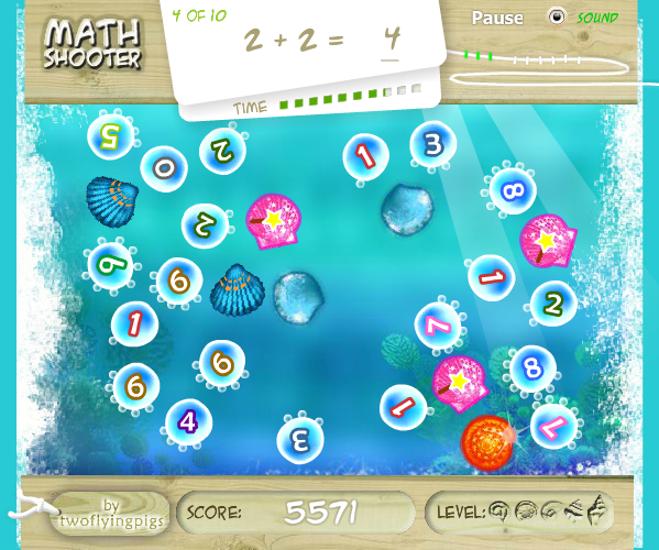 Mathe Spiel: Math Shooter Aquarium